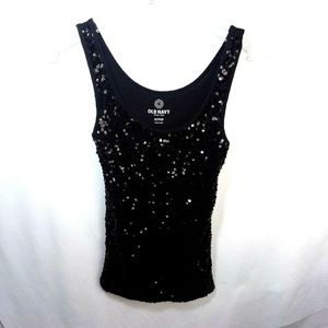 Old Navy Black Sequence Tank Top XS